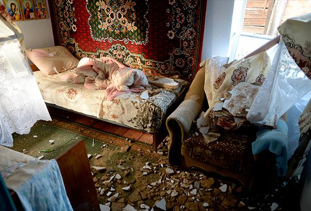 Четыре жилых дома пострадали из-за попадания боеприпасов