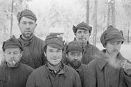 Красноармейцы в финском плену. Лагерь в области Париккала
