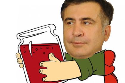Удирающего по крыше от спецназа Саакашвили превратили в мем