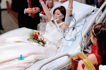 Онкобольная американка вышла замуж засчитанные часы досмерти