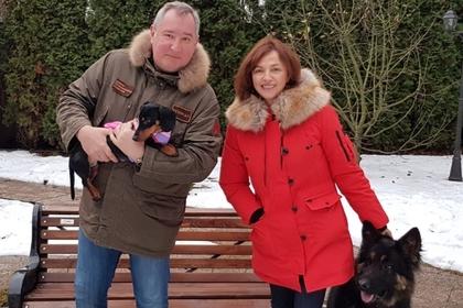 Дмитрий Рогозин с женой Татьяной