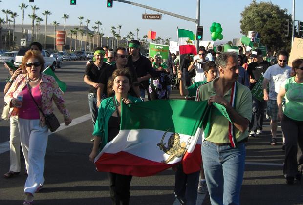 Акции в поддержку «Зеленой революции» 2009 года проходили и за пределами Ирана, в том числе в США