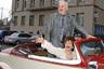 Михаил Державин с супругой Роксаной Бабаян накануне празднования своего юбилея в Москве, 2006 год.