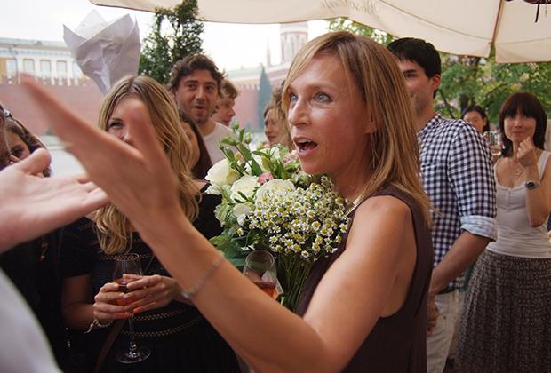 Алена Долецкая во время приема в Bosco Café на Красной площади