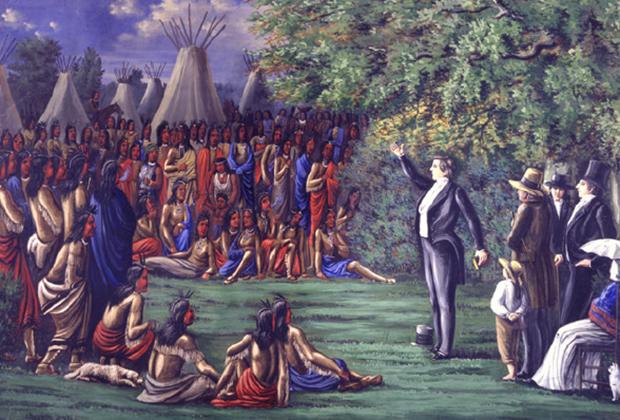Джосеф Смит утверждал, что узнал о «Книге Мормона» от пророка Морония, который предстал перед ним в виде ангела