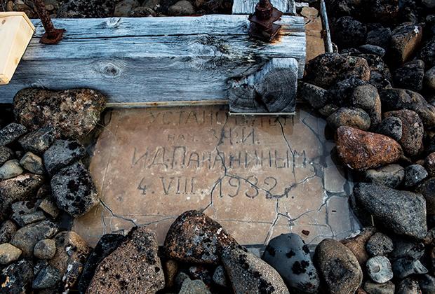 Автограф основателя полярной станции «Бухта Тихая» Ивана Папанина на острове Гукера архипелага Земля Франца-Иосифа.