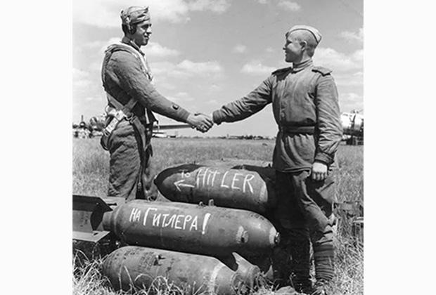 Американские и советские военные во время операции «Фрэнтик»
