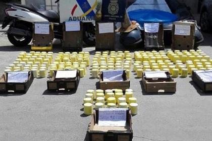 Почти тонну кокаиновых ананасов изъяли в Испании