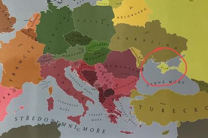 Чешским школьникам показали на карте российский Крым