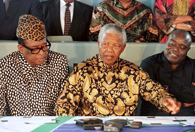 Нельсон Мандела пытался примирить Мобуту и Кабила