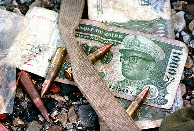 Заирская банкнота с портретом Мобуту