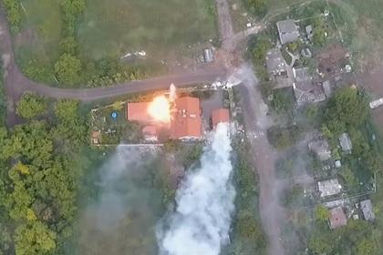 Артиллерийский удар по штабу «Правого сектора» показали на видео