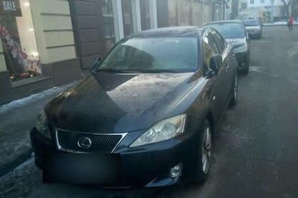 Пьяный украинец потерял Lexus и устроил переполох полиции