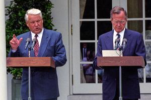 Борис Ельцин и Джордж Буш-старший