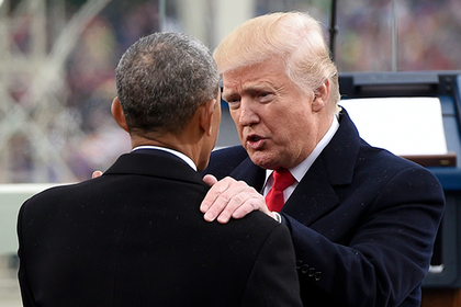 Барак Обама и Дональд Трамп