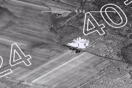 Уничтожение курдского склада боеприпасов попало на видео