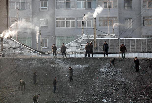 Добыча угля в Северной Корее