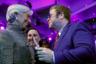 Главные звезды Давоса-2018: сопредседатель форума, директор-распорядитель Международного валютного фонда Кристин Лагард и британский певец сэр Элтон Джон.