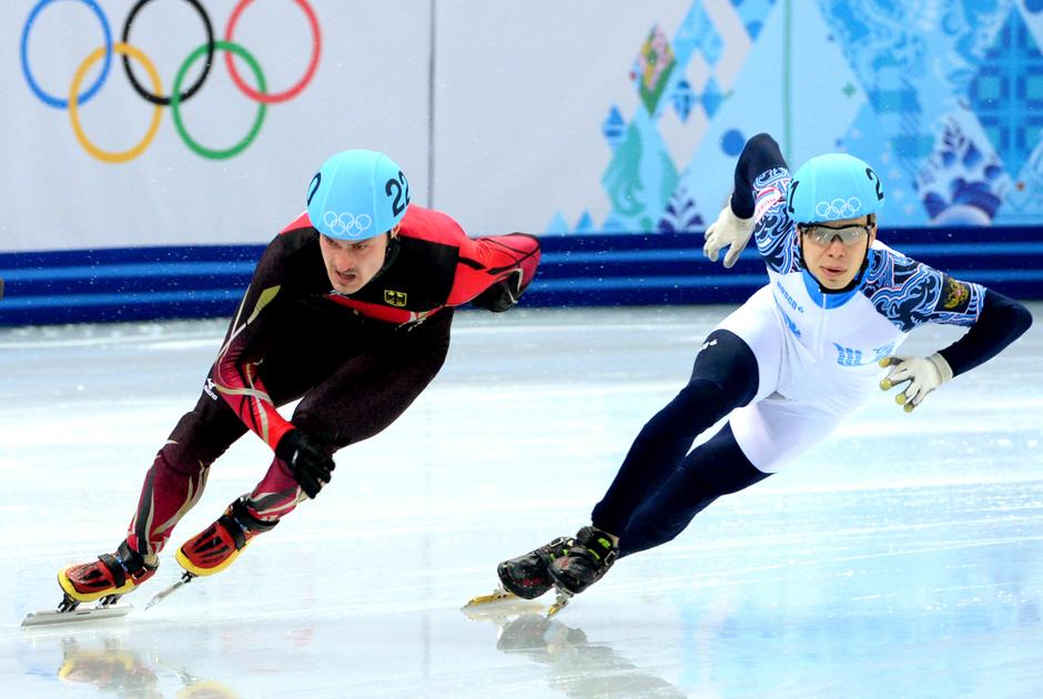 Семен Елистратов (справа) на Олимпиаде в Сочи