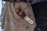 У каждого оленевода на боку традиционный саамский нож для разделывания оленя.