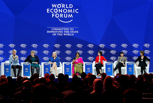 Панельная сессия сопредседателей Всемирного экономического форума в Давосе