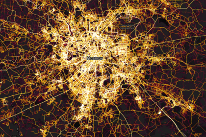 Спортивные маршруты в Москве на карте Strava