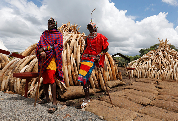 Мужчины из племени масаи