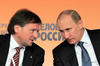 Борис Титов и Владимир Путин