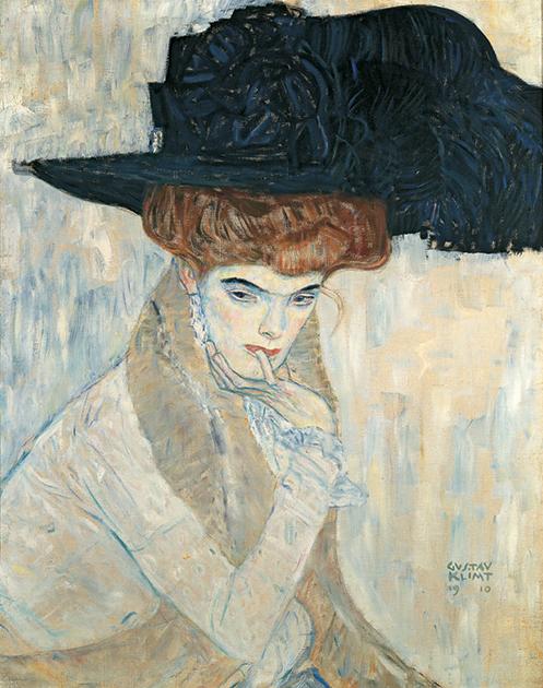 «Черная шляпа с пером», 1910 год