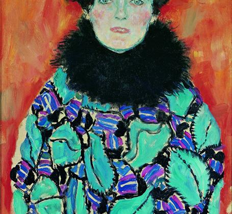 «Портрет Иоганны Штауде» — одна из последних работ Климта. Начатая на рубеже 1917-1918 годов, она так и осталась незавершенной. Модель какое-то время работала у писателя Петера Альтенберга (возможно, по рекомендации художника), который называл ее «современным ангелом».