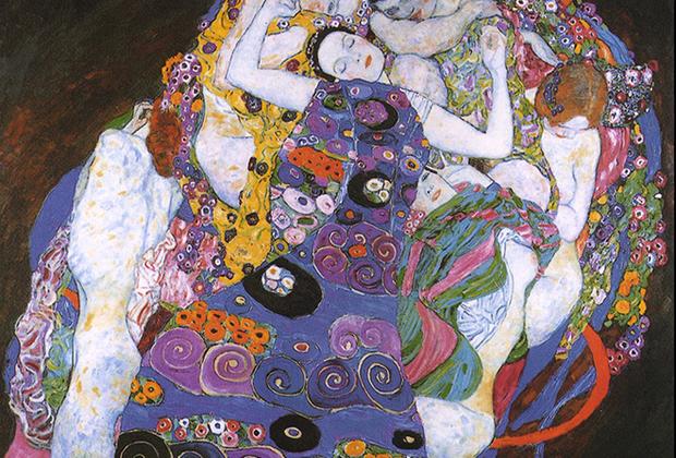 В центре картины — спящая девушка, окруженная шестью обнаженными женщинами. Климт в своих работах часто сознательно отказывается от реалистичности в пользу символичности — считается, что это своеобразный ответ на популярность фотографии, которая лишила художников задачи реалистичного изображения объектов.