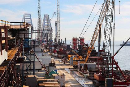 Началось сооружение железнодорожных пролетов Крымского моста
