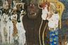 «Бетховенский фриз» стал ответом Климта на критику его «факультетских» картин. Работа была создана для «Гезамткунстверк» Венского сецессиона: большого произведения, объединяющего музыку, живопись, скульптуру и архитектуру и посвященного Бетховену. Вдохновением для цикла Климта, который был представлен в нескольких залах выставки сецессиона вместе со скульптурой Бетховена работы Макса Клингера, стала вагнеровская интерпретация Девятой симфонии.