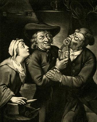 «Дантист», гравюра конца XVIII века