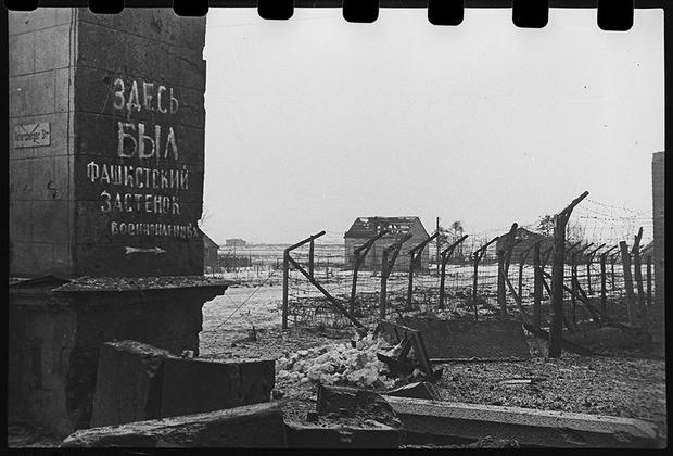 Гатчинский лагерь военнопленных. Ленинградский фронт, 1943 год.