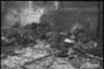 Тела замученных красноармейцев, найденные в Гатчинском лагере военнопленных. Ленинградский фронт, 1943 год.