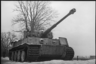 Тяжелый немецкий танк «Тигр», захваченный советскими войсками. Ленинградский фронт, 1943 год.