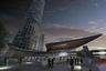 Бронза досталась разработке Джона Карага из компании Klein & Hoffman. В Чикаго он предложил возвести башню простой цилиндрической формы, по периметру здание должны обрамлять пристройки с растениями — зеленые зоны.