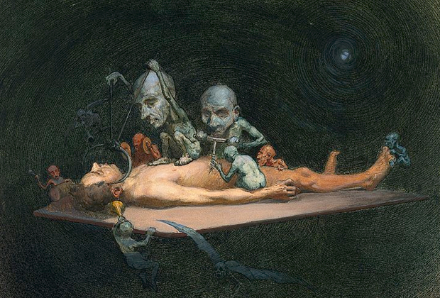 Ричард Теннант Купер «Действие хлороформа на организм человека», 1912 год