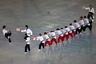 Тхэквондо и хапкидо стали частью исторической части мероприятия. Участники церемонии продемонстрировали навыки в национальных боевых искусствах.