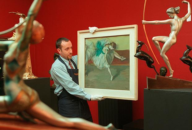 Эдгар Дега «Отдыхающая танцовщица», предполагаемая цена - восемь миллионов долларов