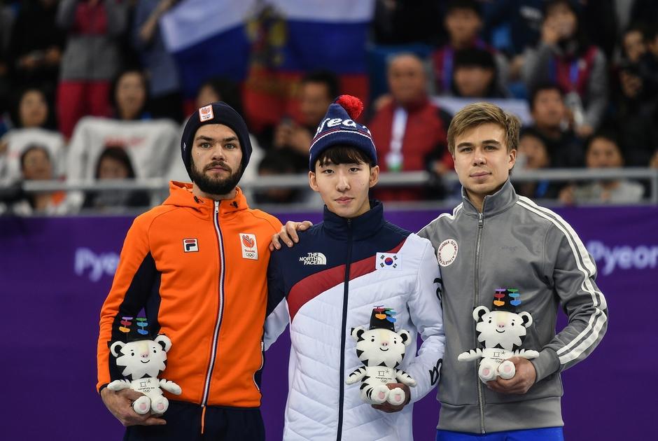 Шинки Кнегт, Лим Хе Джун и Семен Елистратов (слева направо)