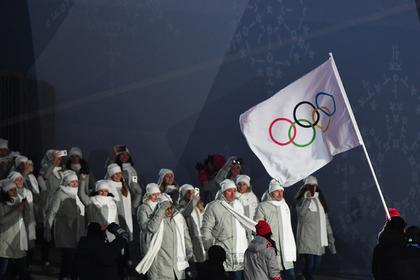 Российские спортсмены на церемонии открытия Олимпиады
