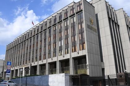 Здание Совета Федерации на улице Большой Дмитровке в Москве