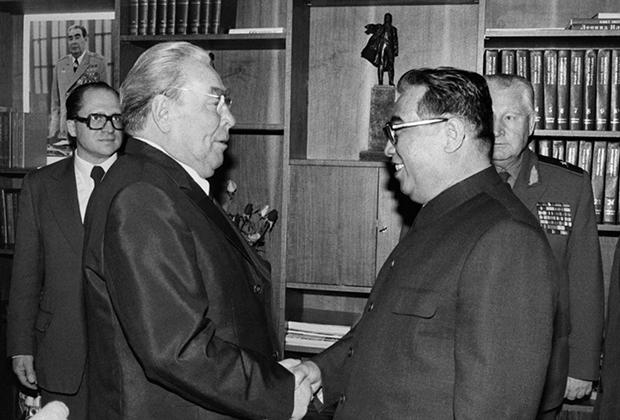 Леонид Брежнев и Ким Ир Сен