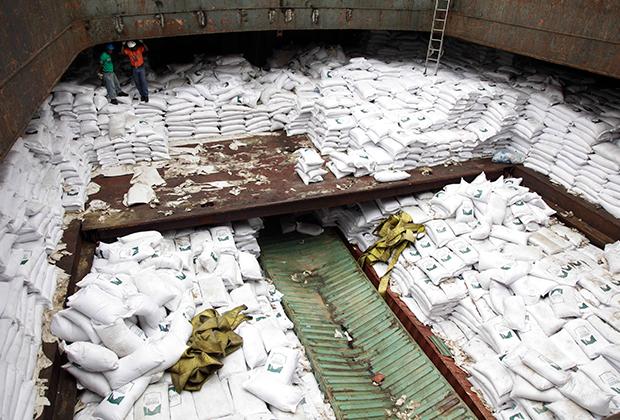 Задержанное судно, следовавшее в КНДР с истребителем МиГ-21 на борту