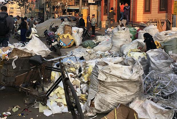 Сортировщица мусора в Нью-Дели