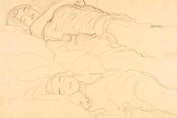 Густав Климт. «Двое лежащих»