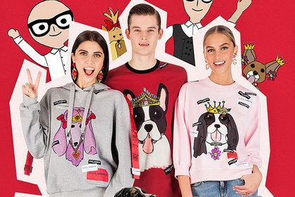 Итальянцы украсили футболки смешными собачками