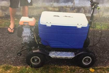 Пьяного ездока на холодильнике с колесиками оштрафовали за нарушение ПДД